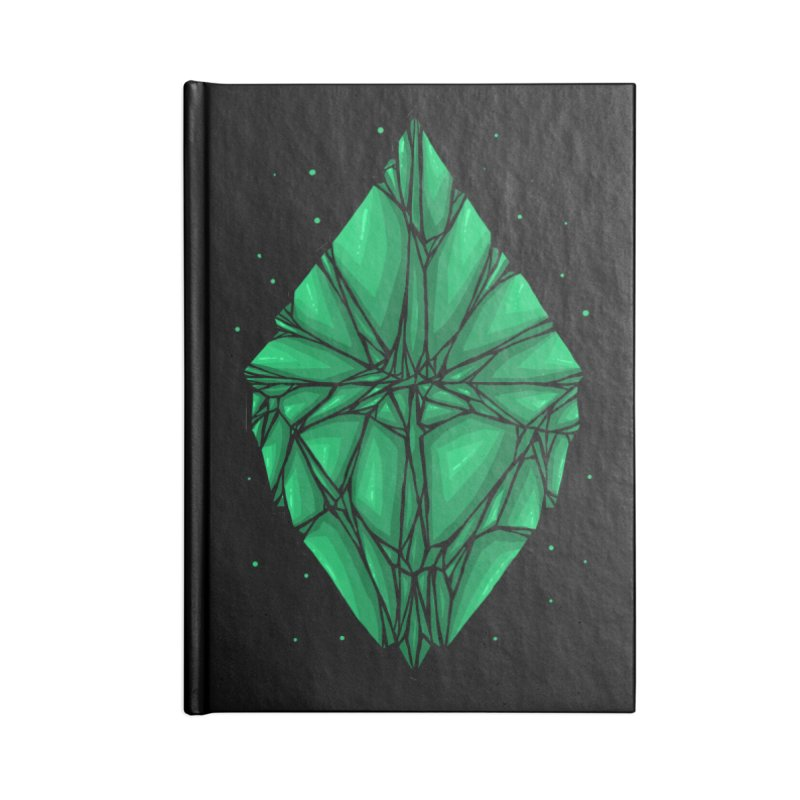 Green diamond Accessories Lined Journal Notebook by barmalisiRTB