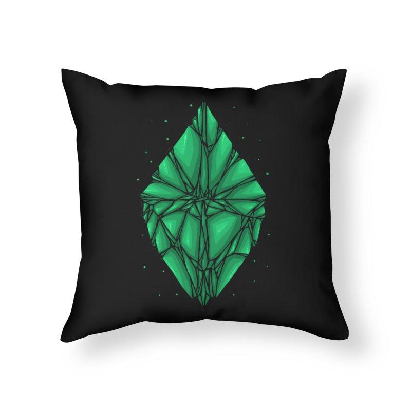 Green diamond Home Throw Pillow by barmalisiRTB