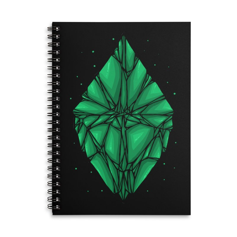 Green diamond Accessories Lined Spiral Notebook by barmalisiRTB