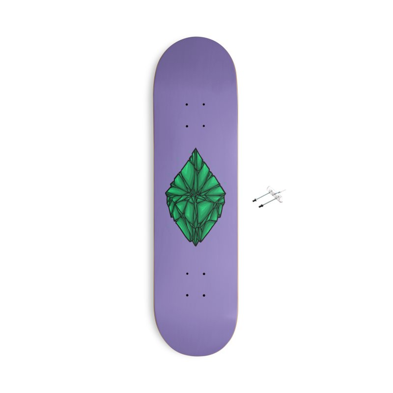 Green diamond Accessories With Hanging Hardware Skateboard by barmalisiRTB