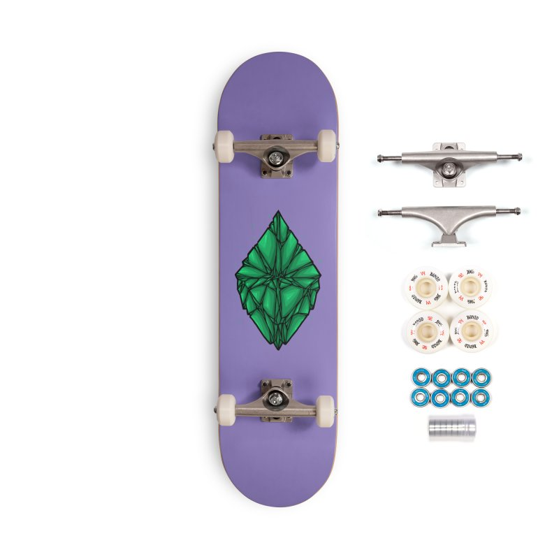 Green diamond Accessories Complete - Premium Skateboard by barmalisiRTB