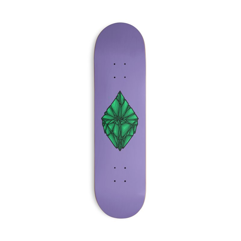 Green diamond Accessories Deck Only Skateboard by barmalisiRTB
