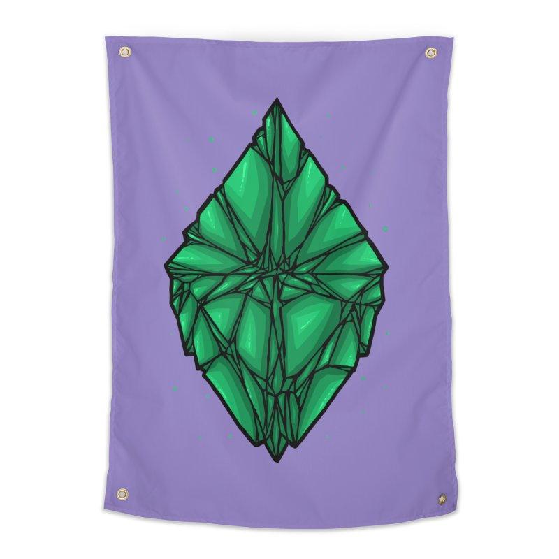 Green diamond Home Tapestry by barmalisiRTB
