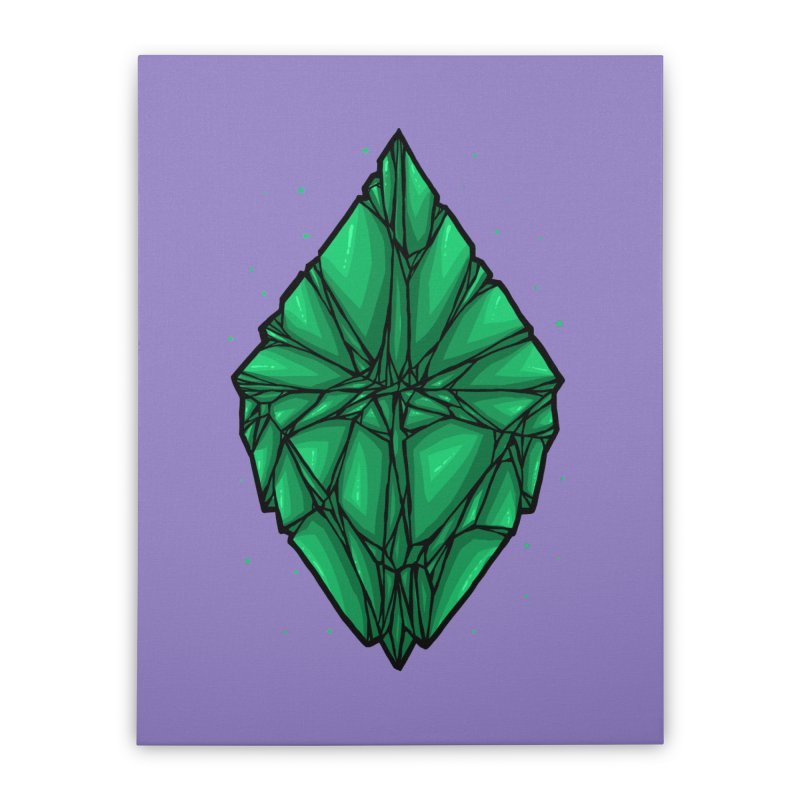 Green diamond Home Stretched Canvas by barmalisiRTB