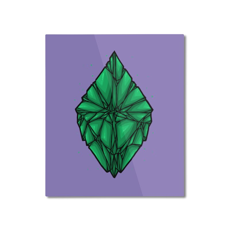 Green diamond Home Mounted Aluminum Print by barmalisiRTB