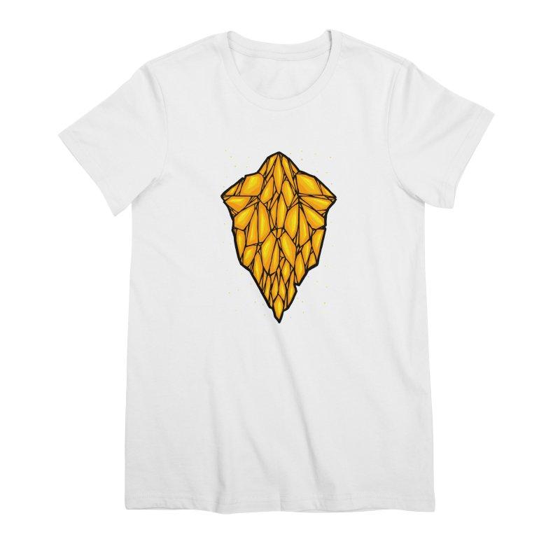 Yellow diamond Women's Premium T-Shirt by barmalisiRTB