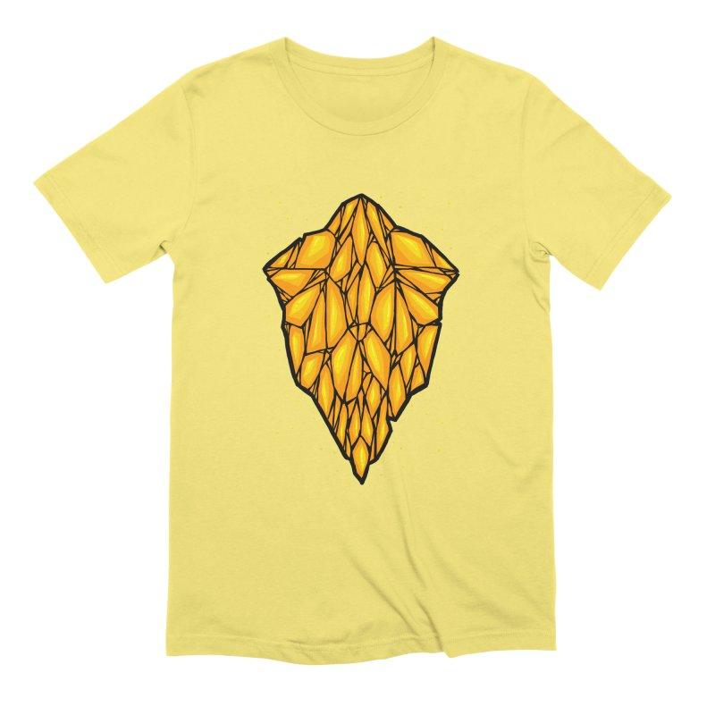 Yellow diamond Men's Extra Soft T-Shirt by barmalisiRTB