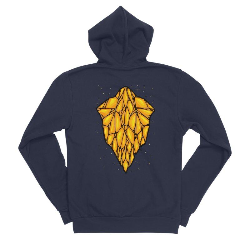 Yellow diamond Men's Sponge Fleece Zip-Up Hoody by barmalisiRTB
