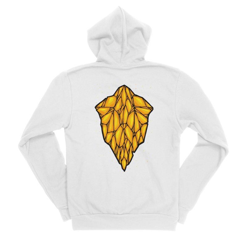 Yellow diamond Women's Sponge Fleece Zip-Up Hoody by barmalisiRTB