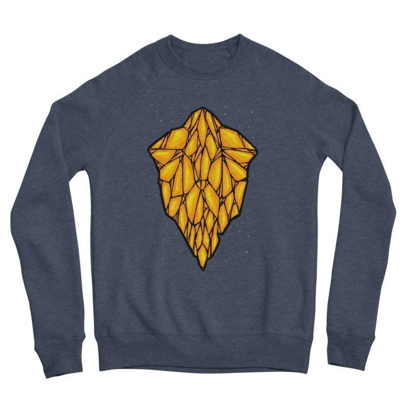Yellow diamond Women's Sponge Fleece Sweatshirt by barmalisiRTB