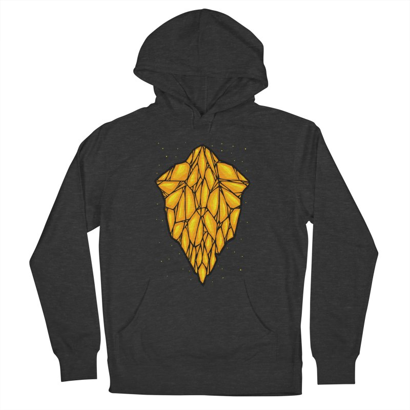 Yellow diamond Men's French Terry Pullover Hoody by barmalisiRTB