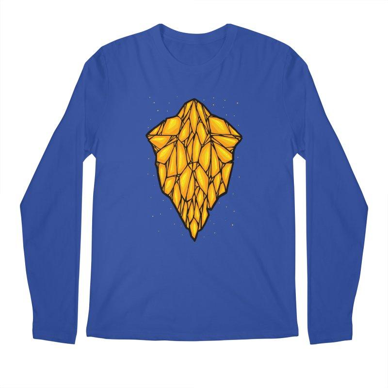 Yellow diamond Men's Regular Longsleeve T-Shirt by barmalisiRTB