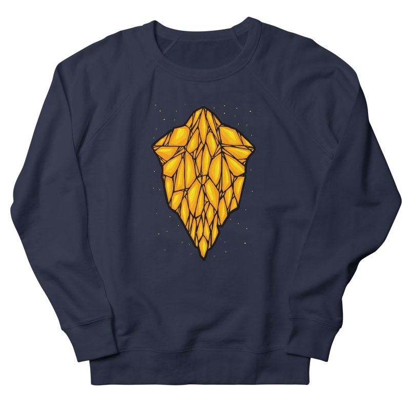 Yellow diamond Men's French Terry Sweatshirt by barmalisiRTB