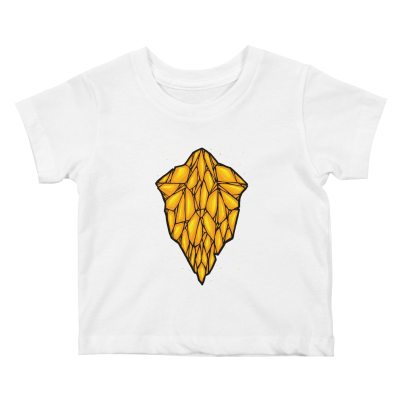 Yellow diamond Kids Baby T-Shirt by barmalisiRTB