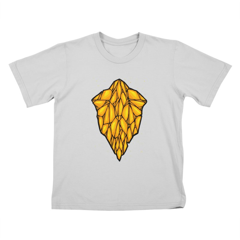 Yellow diamond Kids T-Shirt by barmalisiRTB