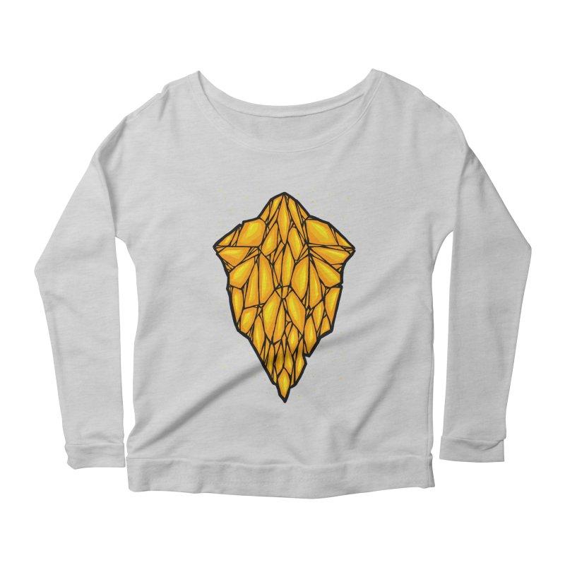 Yellow diamond Women's Scoop Neck Longsleeve T-Shirt by barmalisiRTB