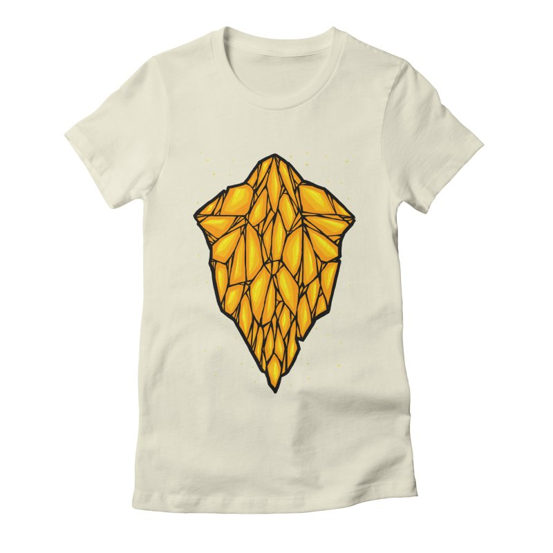 Yellow diamond Women's Fitted T-Shirt by barmalisiRTB