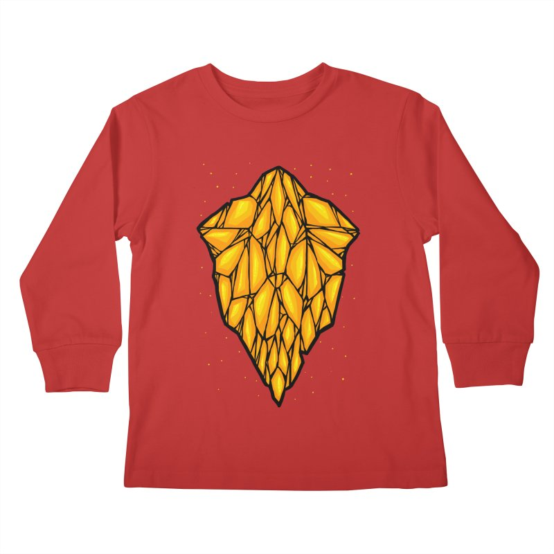 Yellow diamond Kids Longsleeve T-Shirt by barmalisiRTB