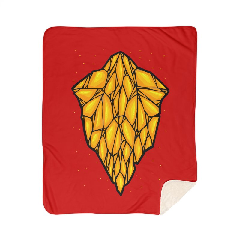 Yellow diamond Home Sherpa Blanket Blanket by barmalisiRTB