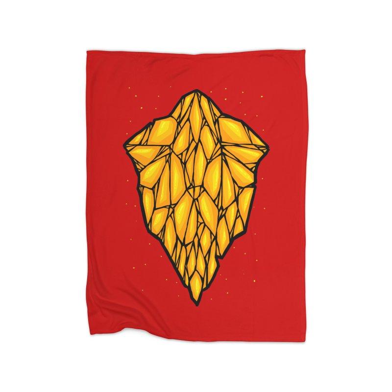Yellow diamond Home Fleece Blanket Blanket by barmalisiRTB