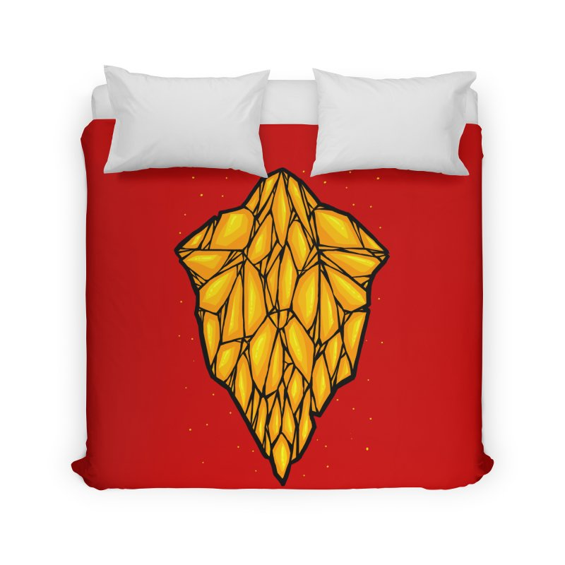 Yellow diamond Home Duvet by barmalisiRTB