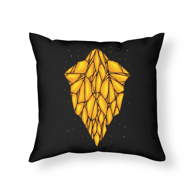 Yellow diamond Home Throw Pillow by barmalisiRTB