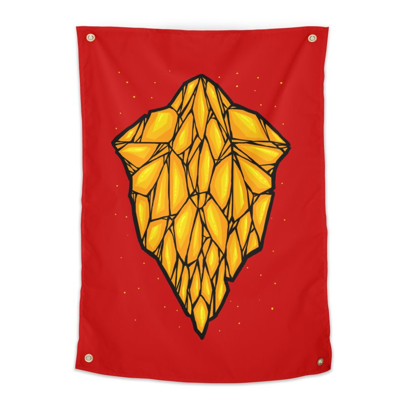 Yellow diamond Home Tapestry by barmalisiRTB