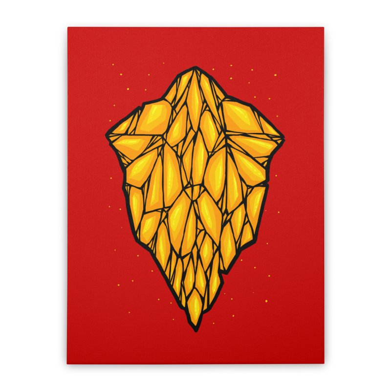Yellow diamond Home Stretched Canvas by barmalisiRTB
