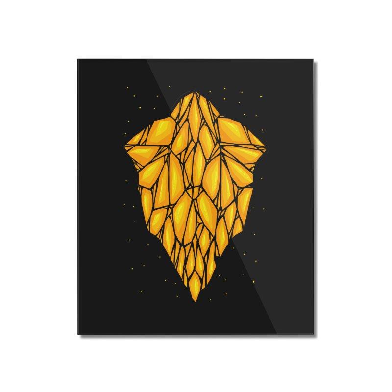 Yellow diamond Home Mounted Acrylic Print by barmalisiRTB