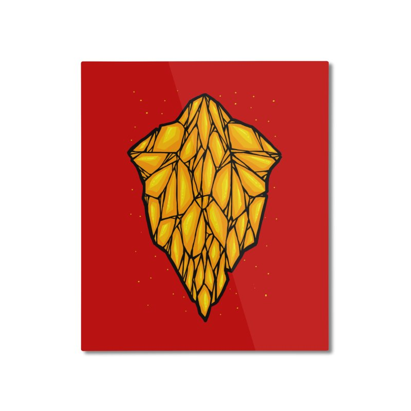 Yellow diamond Home Mounted Aluminum Print by barmalisiRTB