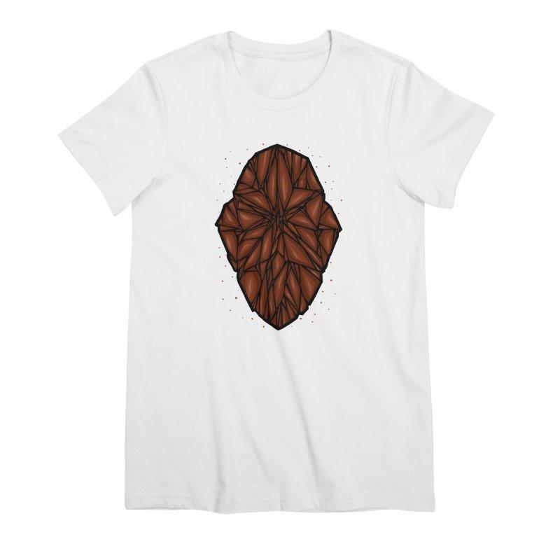 Brown diamond Women's Premium T-Shirt by barmalisiRTB