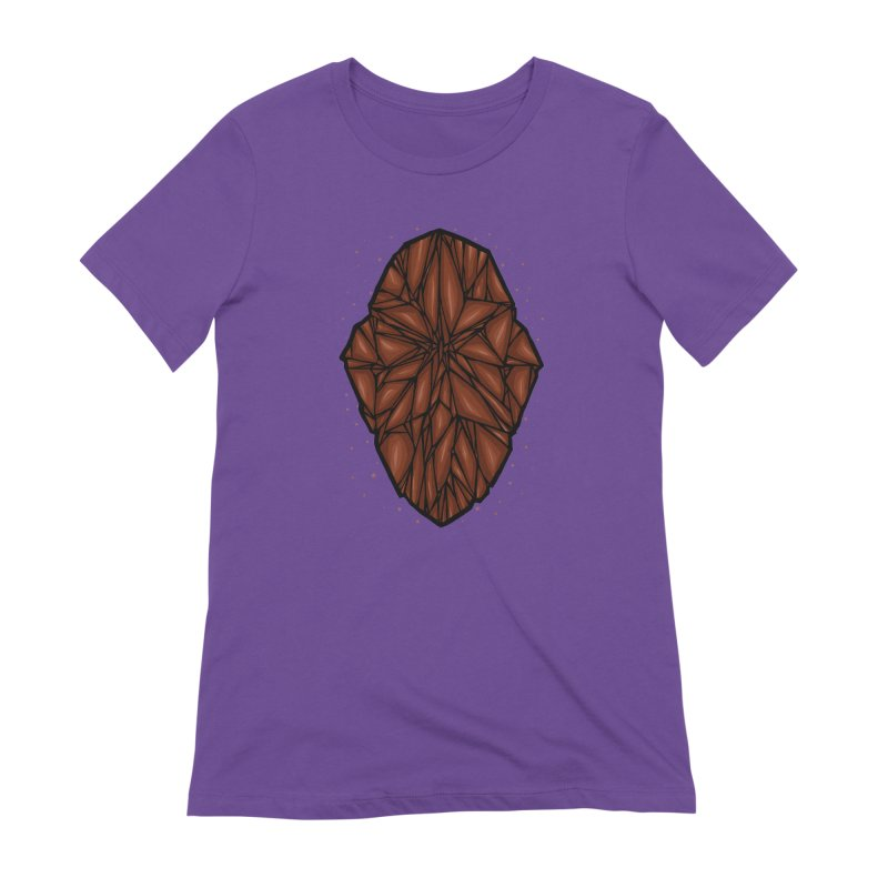 Brown diamond Women's Extra Soft T-Shirt by barmalisiRTB
