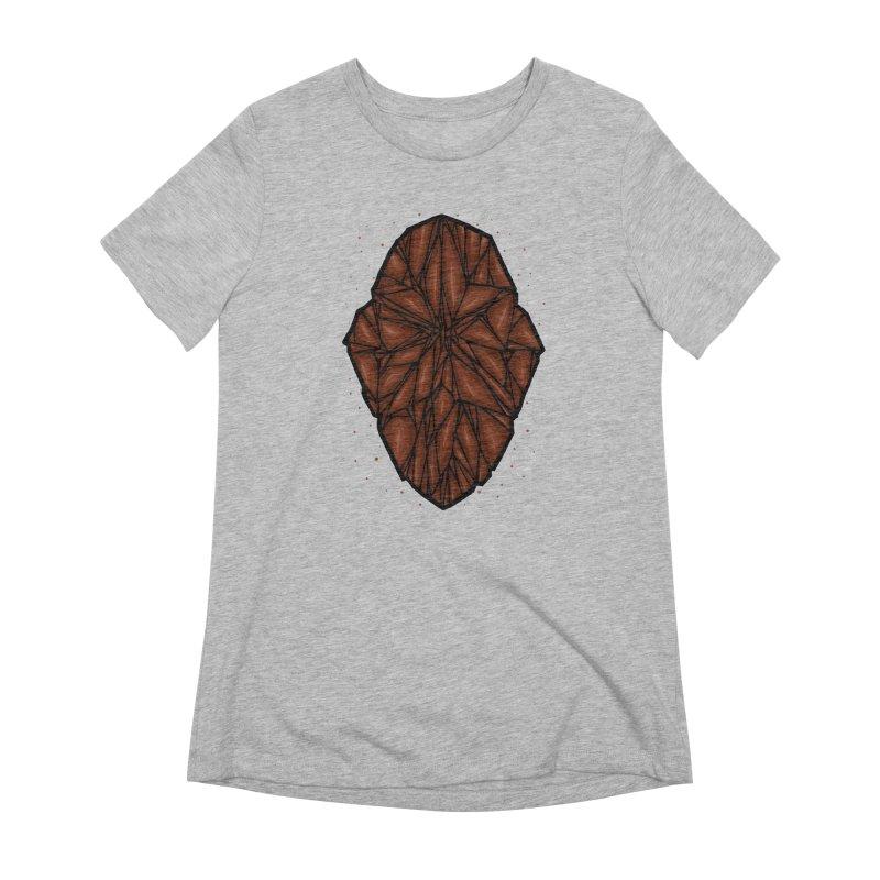 Brown diamond Women's Extra Soft T-Shirt by barmalisiRTB