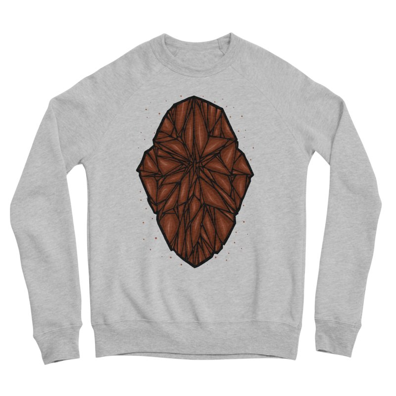 Brown diamond Men's Sponge Fleece Sweatshirt by barmalisiRTB