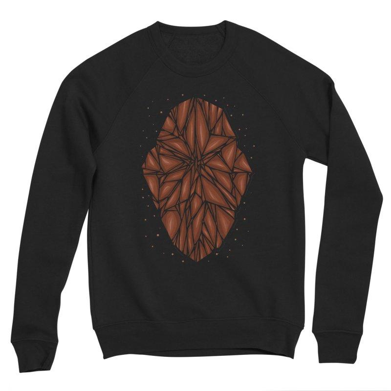 Brown diamond Men's Sponge Fleece Sweatshirt by barmalisiRTB