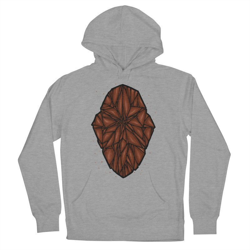Brown diamond Women's French Terry Pullover Hoody by barmalisiRTB