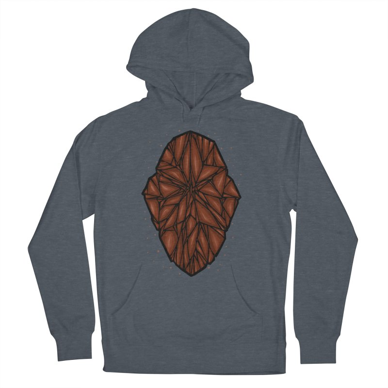 Brown diamond Men's French Terry Pullover Hoody by barmalisiRTB