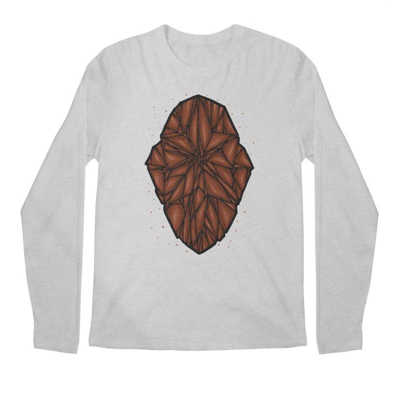 Brown diamond Men's Regular Longsleeve T-Shirt by barmalisiRTB