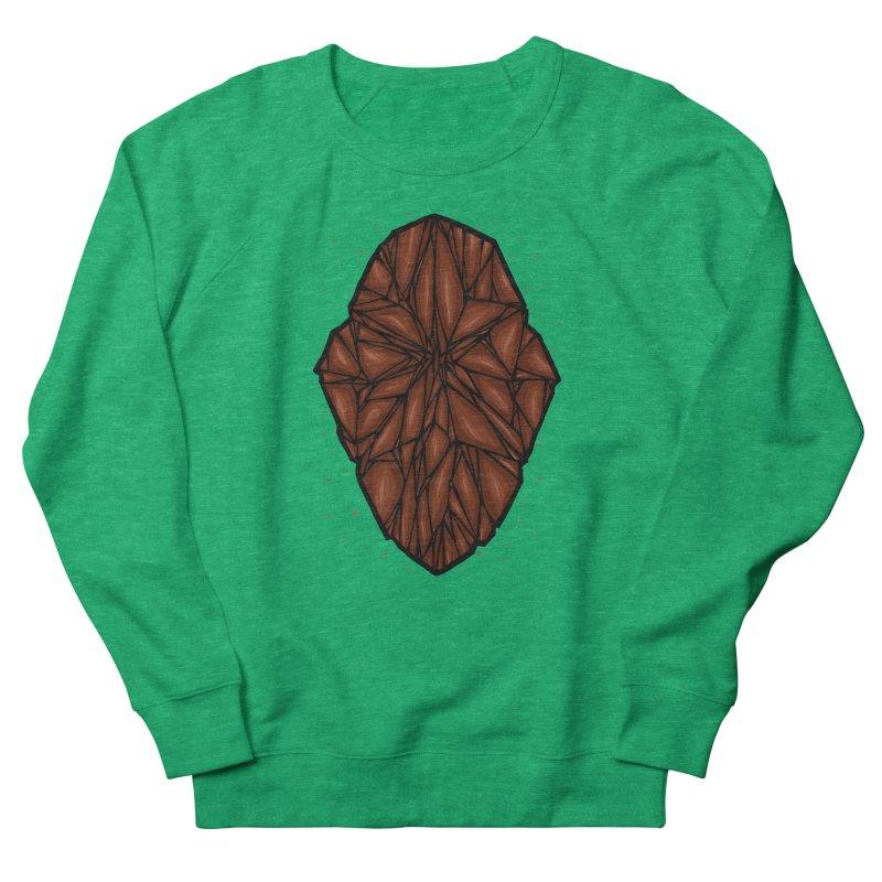 Brown diamond Men's French Terry Sweatshirt by barmalisiRTB