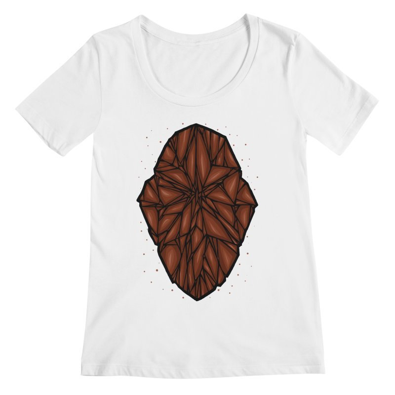 Brown diamond Women's Regular Scoop Neck by barmalisiRTB