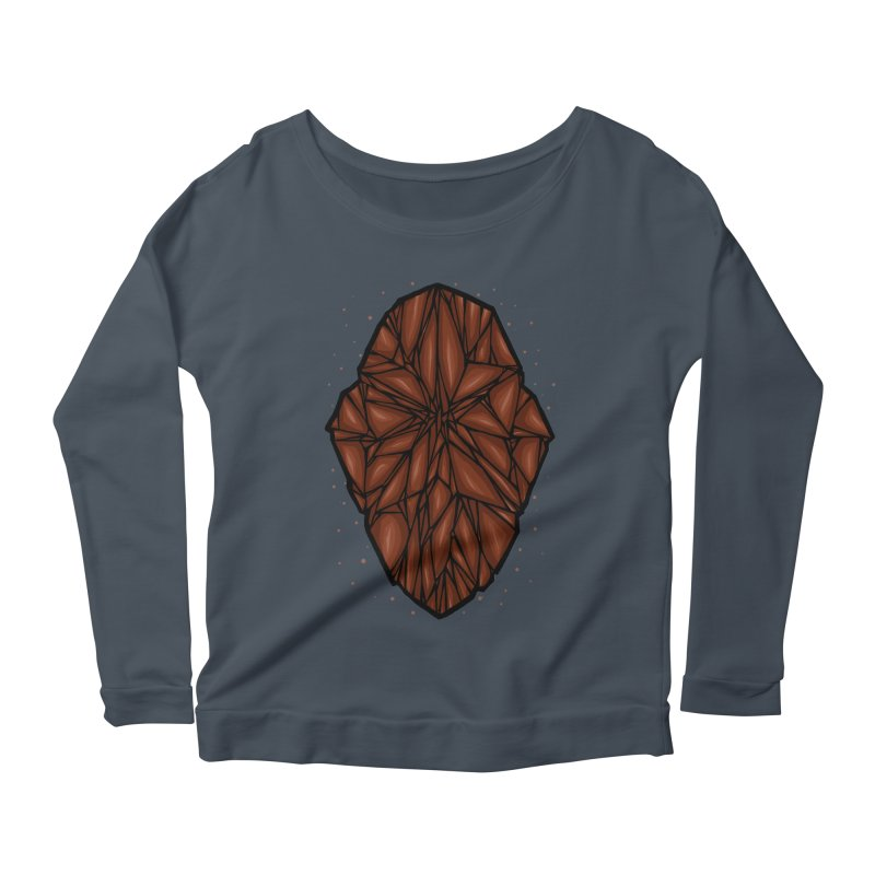 Brown diamond Women's Scoop Neck Longsleeve T-Shirt by barmalisiRTB