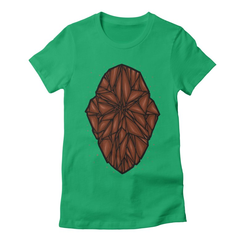 Brown diamond Women's Fitted T-Shirt by barmalisiRTB