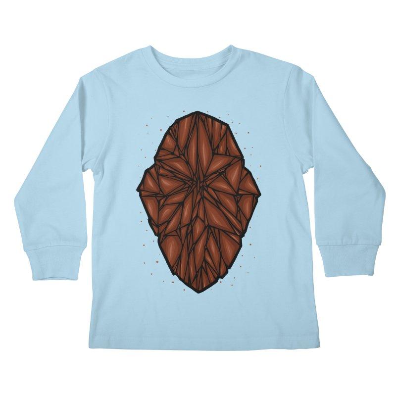 Brown diamond Kids Longsleeve T-Shirt by barmalisiRTB