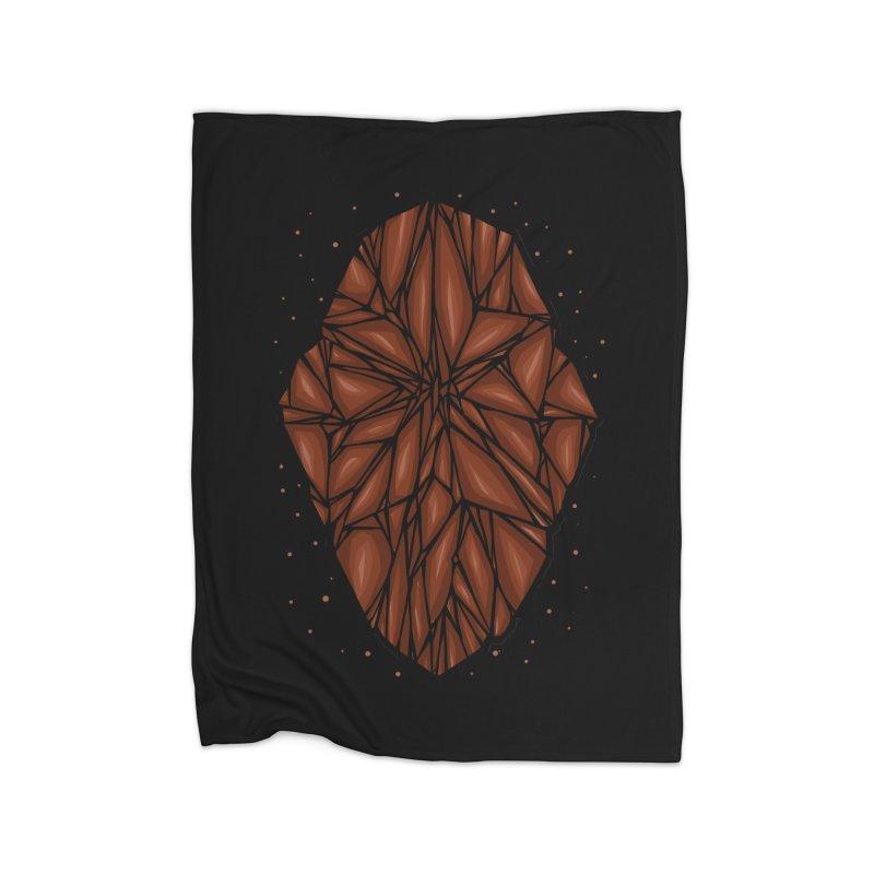 Brown diamond Home Fleece Blanket Blanket by barmalisiRTB