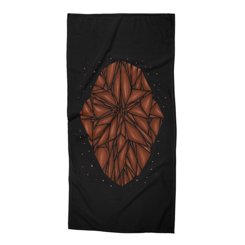 Brown diamond Accessories Beach Towel by barmalisiRTB