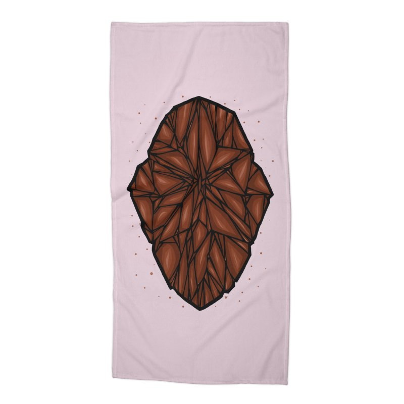 Brown diamond Accessories Beach Towel by barmalisiRTB