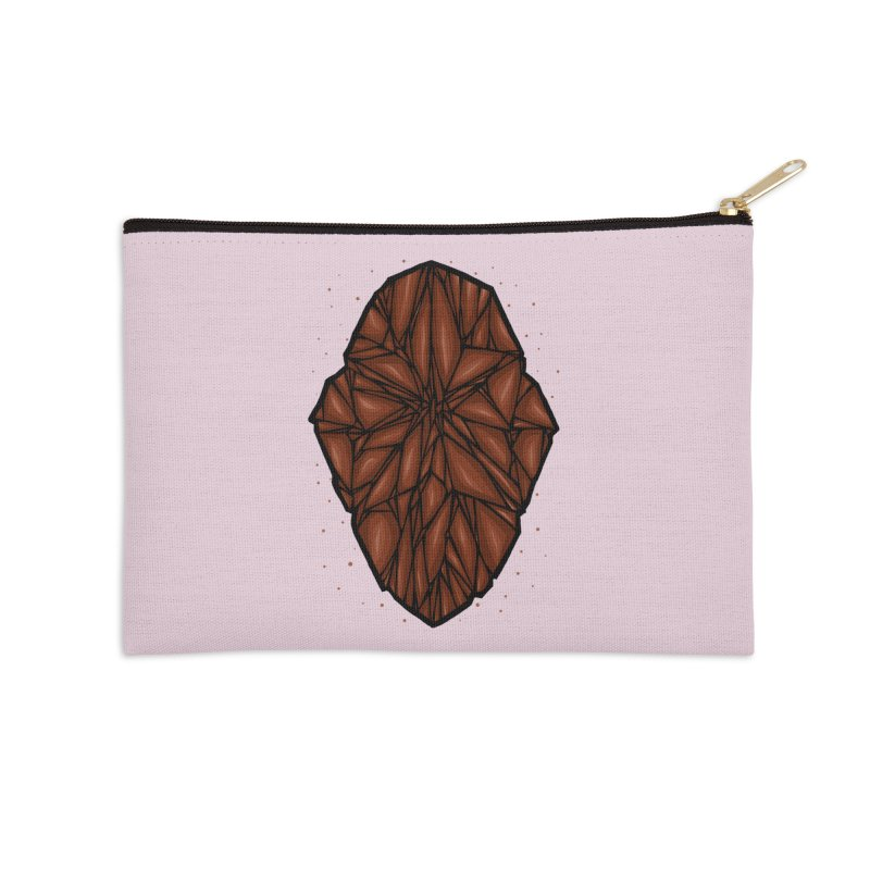 Brown diamond Accessories Zip Pouch by barmalisiRTB