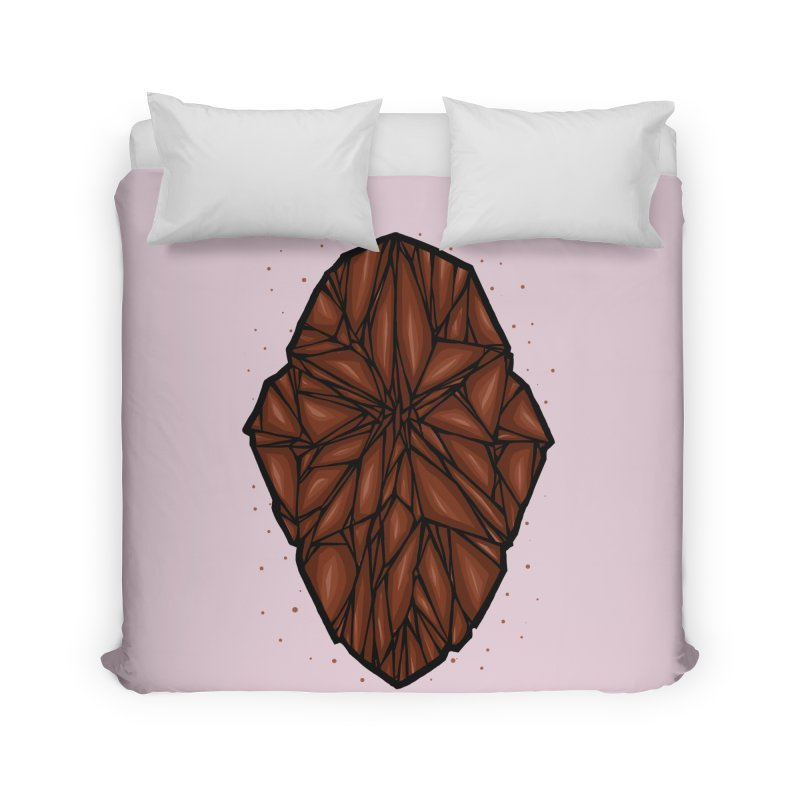Brown diamond Home Duvet by barmalisiRTB