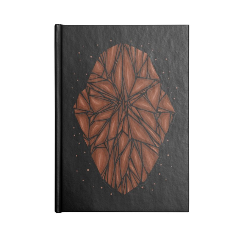 Brown diamond Accessories Lined Journal Notebook by barmalisiRTB