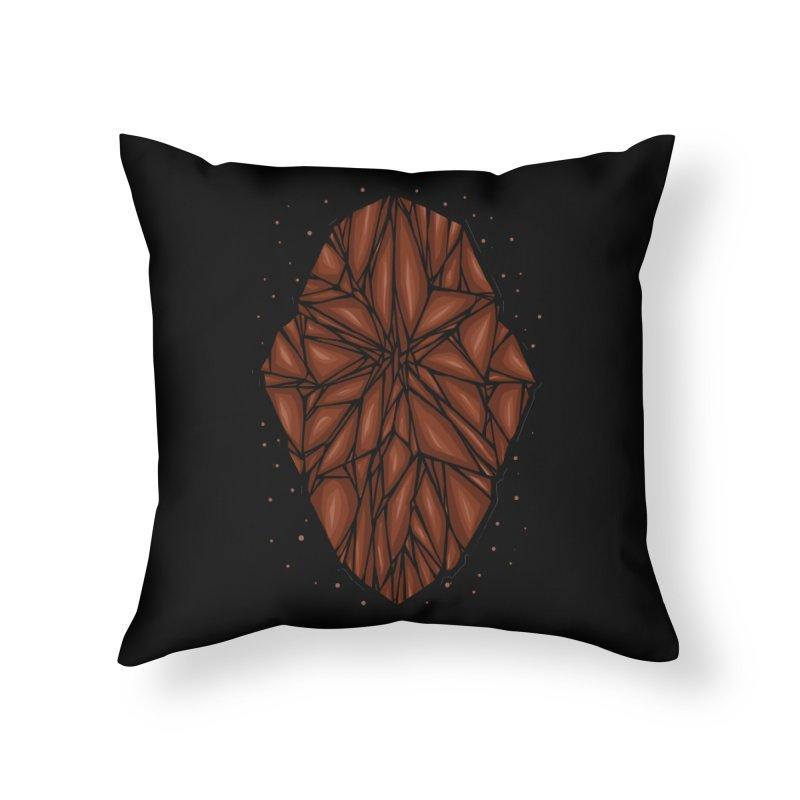 Brown diamond Home Throw Pillow by barmalisiRTB